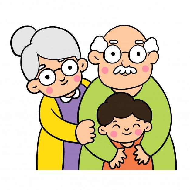 картинка семья бабушка дедушка и внук