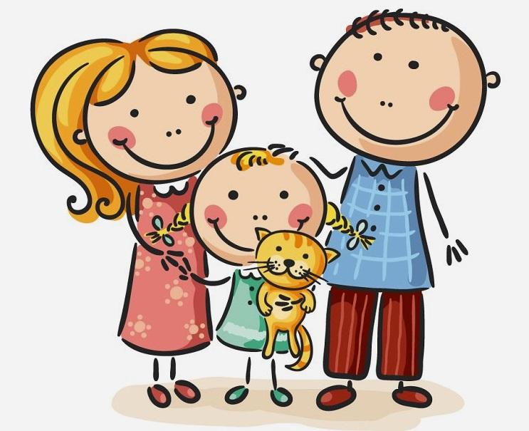 картинка семья с одним ребенком девочкой