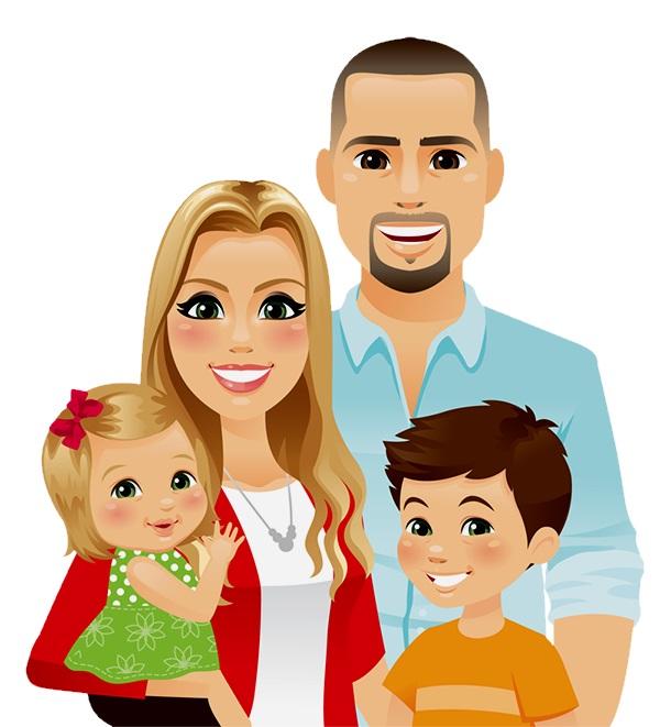 картинка молодая семья