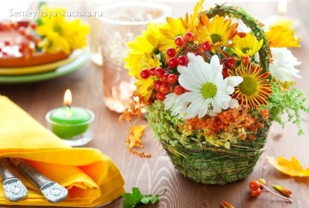 осенний букет с хризантемой своими руками