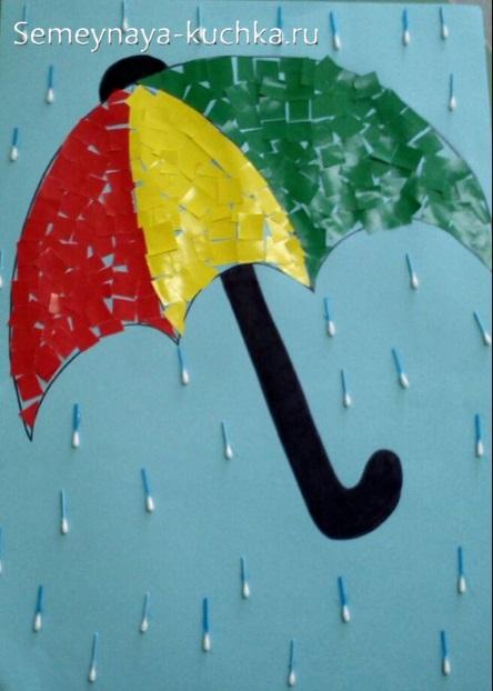 осенняя поделка аппликация дождик