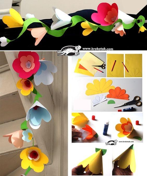 на 1 класс поделка цветы из бумажных конусов