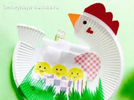 поделка курица и цыплята на 1 класс