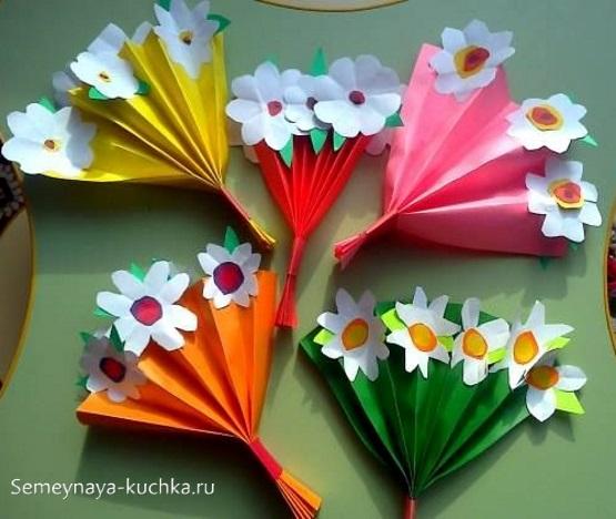 поделка цветы для мамы на 1 класс
