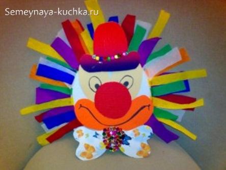 поделка клоун на 1 класс