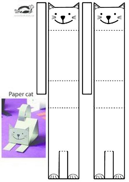 схема поделки кот на 1 класс