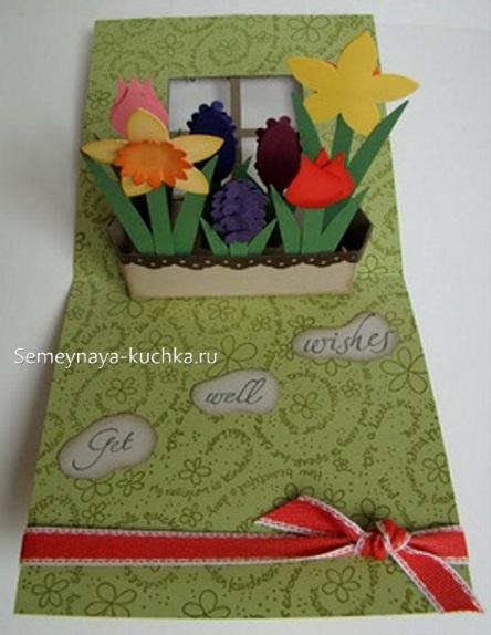 поделка из картона на день матери