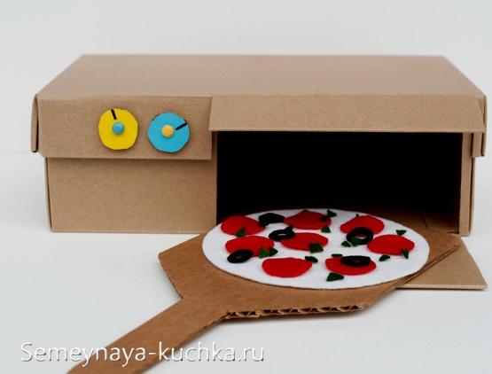 интересные поделки из картона пицца