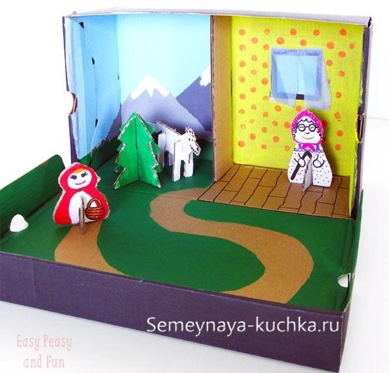 поделка кукольный театр из картона