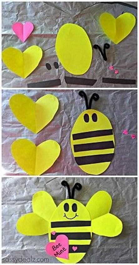 поделка на 2 класс из бумажных сердец