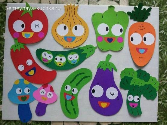 простая осенняя поделка овощи