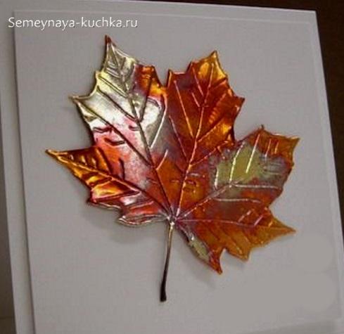 легкие осенние поделки кленовый лаковый лист