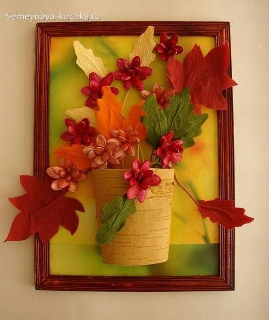 легкие осенние поделки из листьев и бумаги