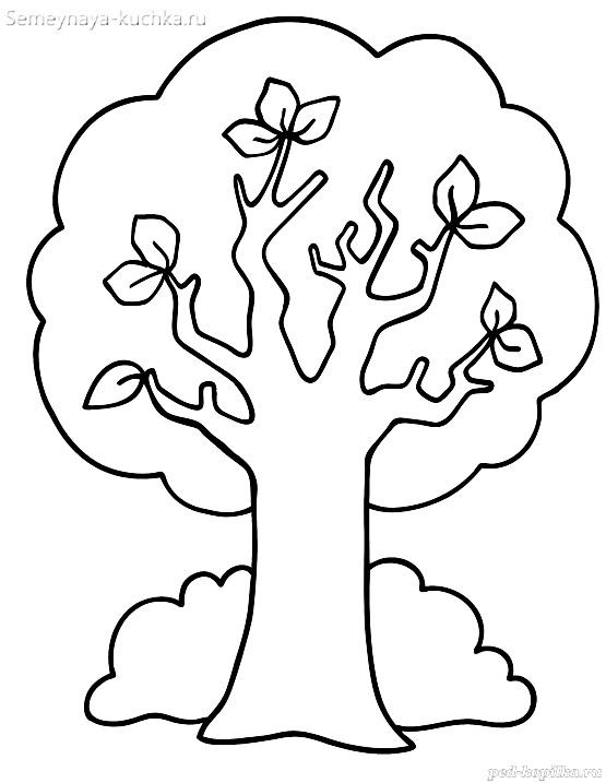 раскраска для маленьких осеннее дерево
