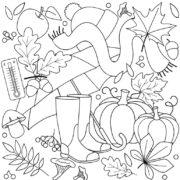 Раскраска ОСЕНЬ (77 картинок для раскрашивания)