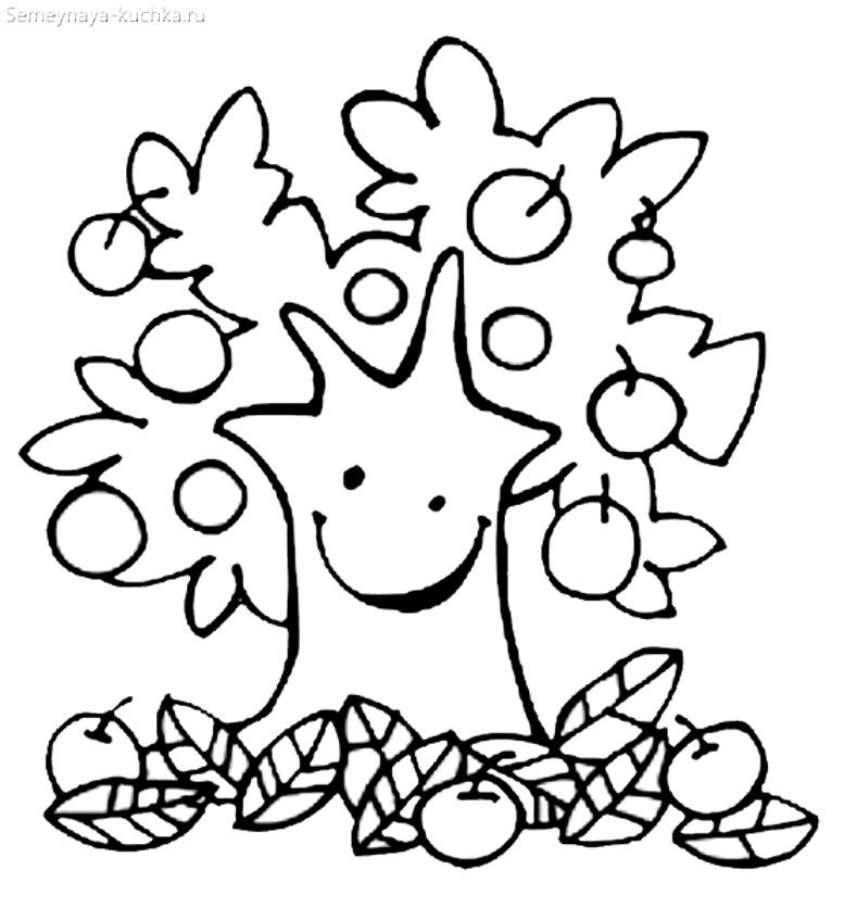 осеннее дерево улыбается