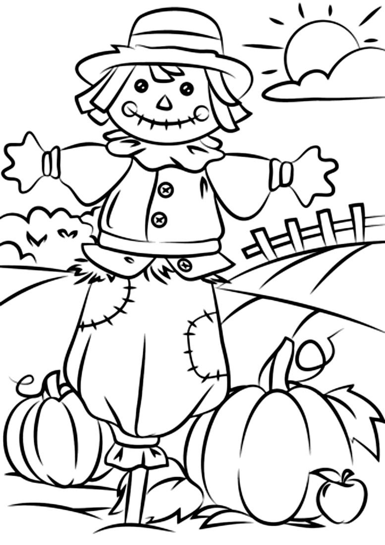 раскраска осень урожай тыквы