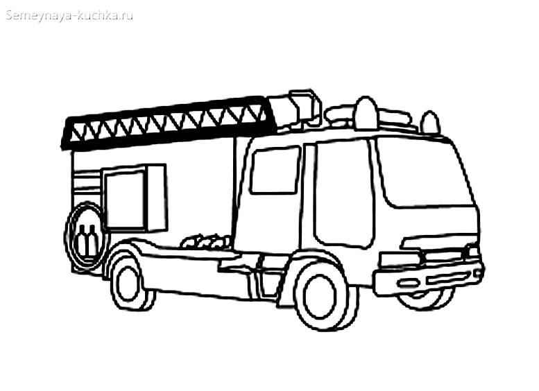 пожарный транспорт раскраска