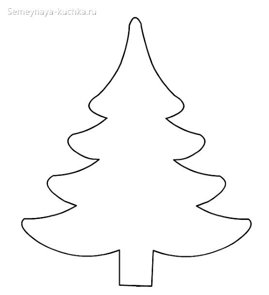 шаблон елка