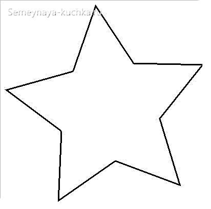 звезда для шаблона елки