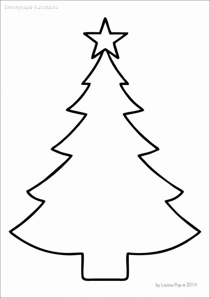 высокий шаблон елки