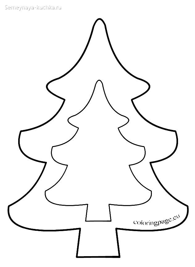 шаблон елки большой и маленький