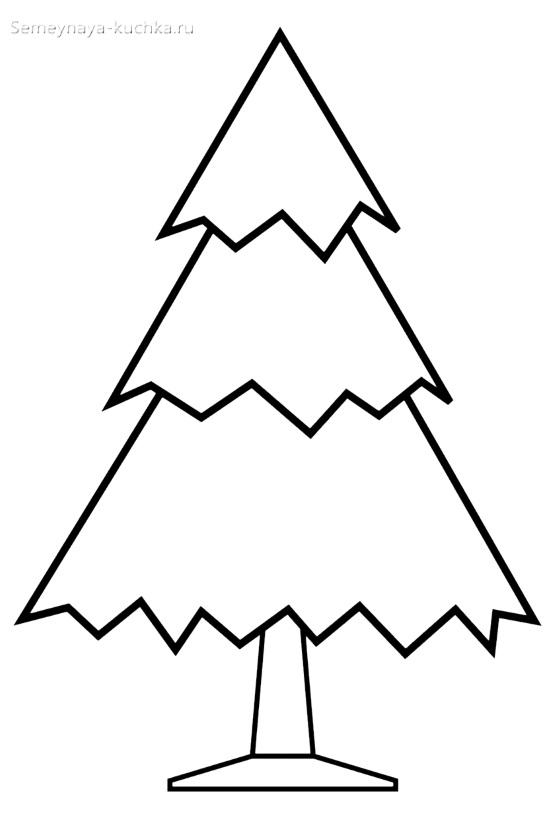 острый зубчатый шаблон елки