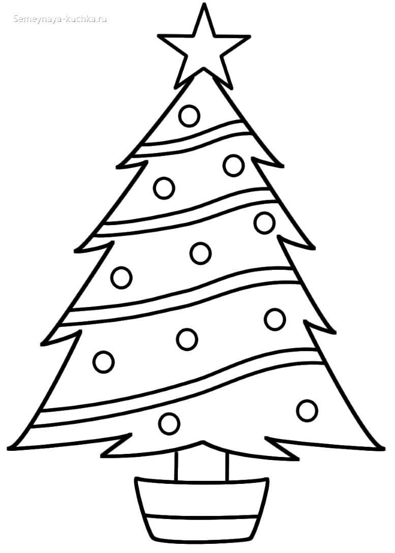 легкий шаблон елки