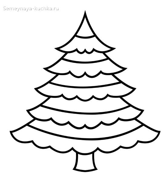 шаблон ярусной елки