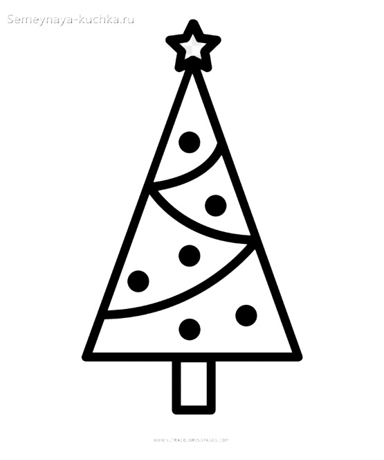 простой шаблон елки