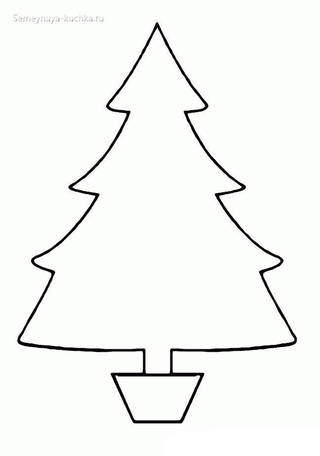 шаблон елки простой