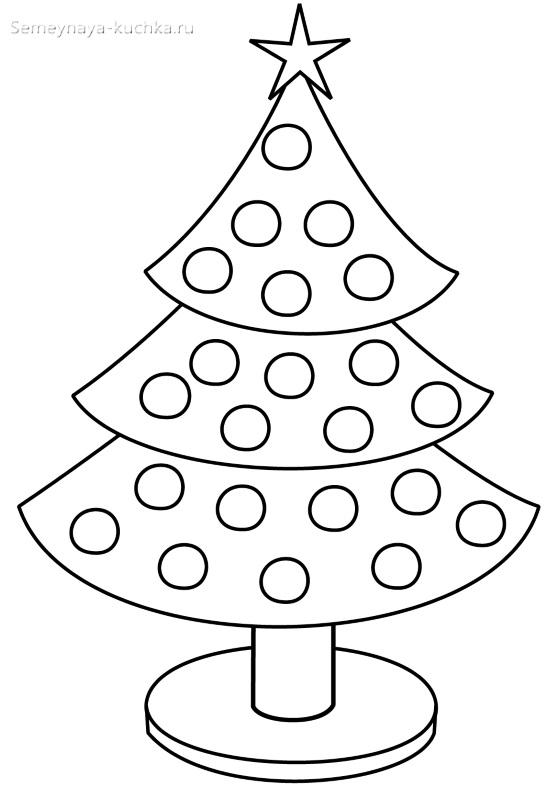 шаблон елки