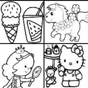 Раскраски ДЛЯ ДЕВОЧЕК (100 картинок для вашей малышки).