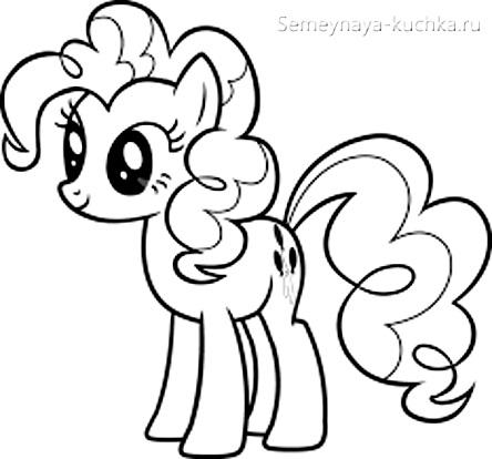 раскраска для девочки пони