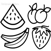 раскраска овощи и фрукты