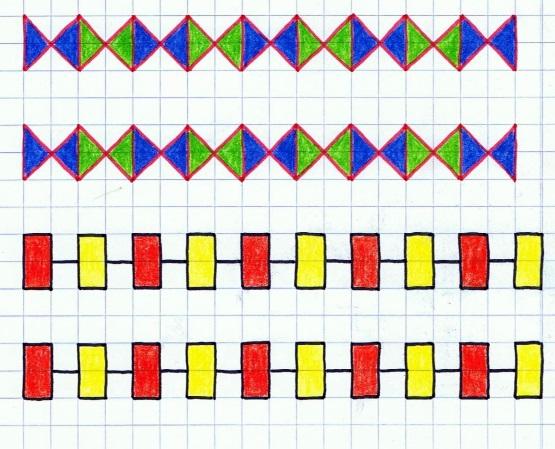 простые узоры по клеточкам