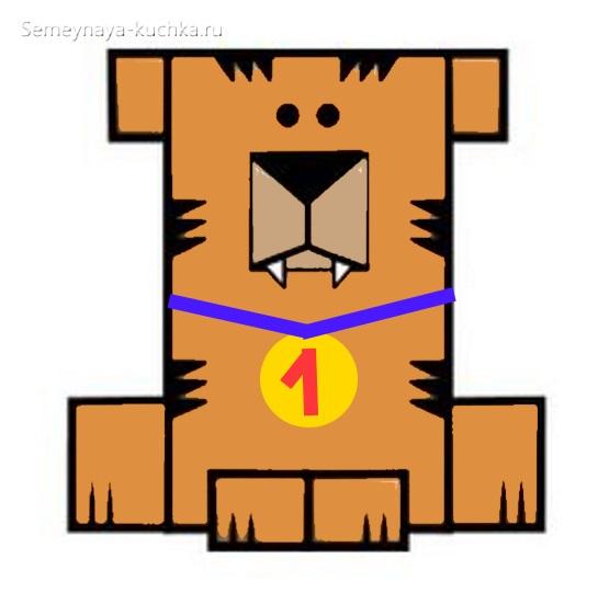 аппликация собака из прямоугольников