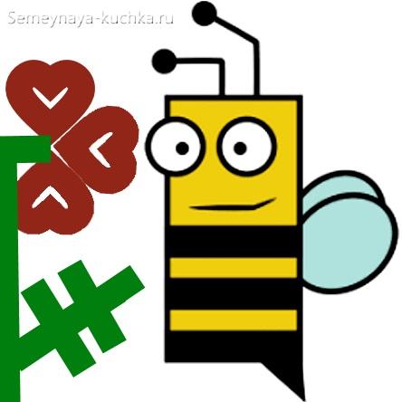 аппликация пчела из прямоугольника
