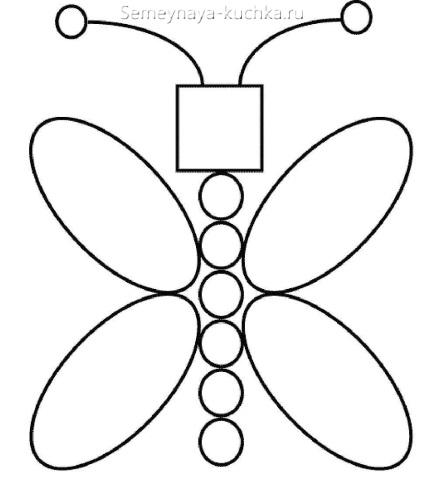 аппликации бабочка из геометрических фигур