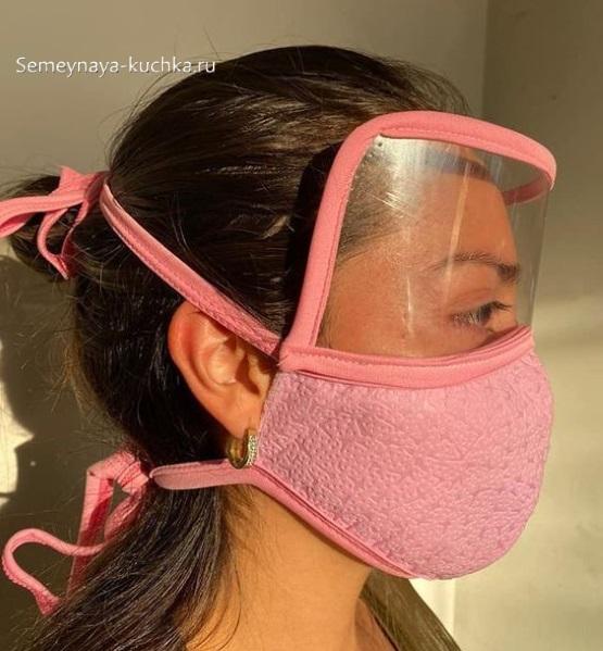защитная маска с прозрачной защитой глаз