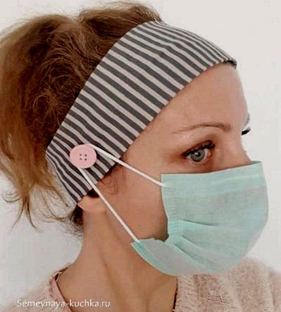 крепление маски на лицо не за уши