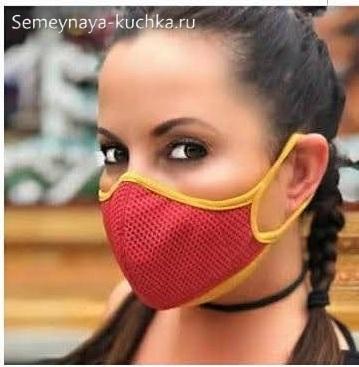 простая маска на лицо как сшить