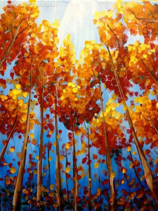 рисунок осенний лес