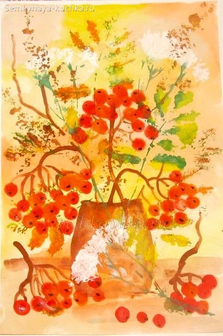 дети рисуют осень натюрморт