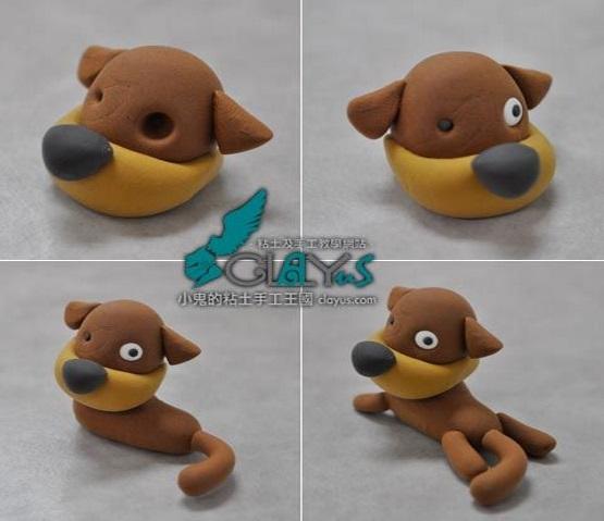 собака из пластилина мастер-класс урок