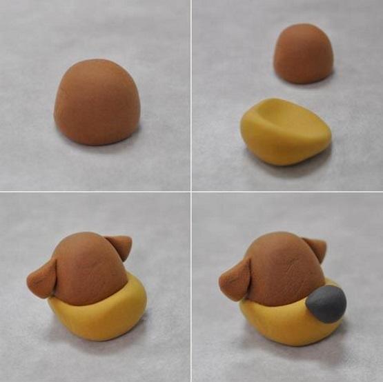 собака из пластилина мастер-класс