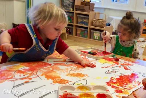 игры с красками для детей в 2 года